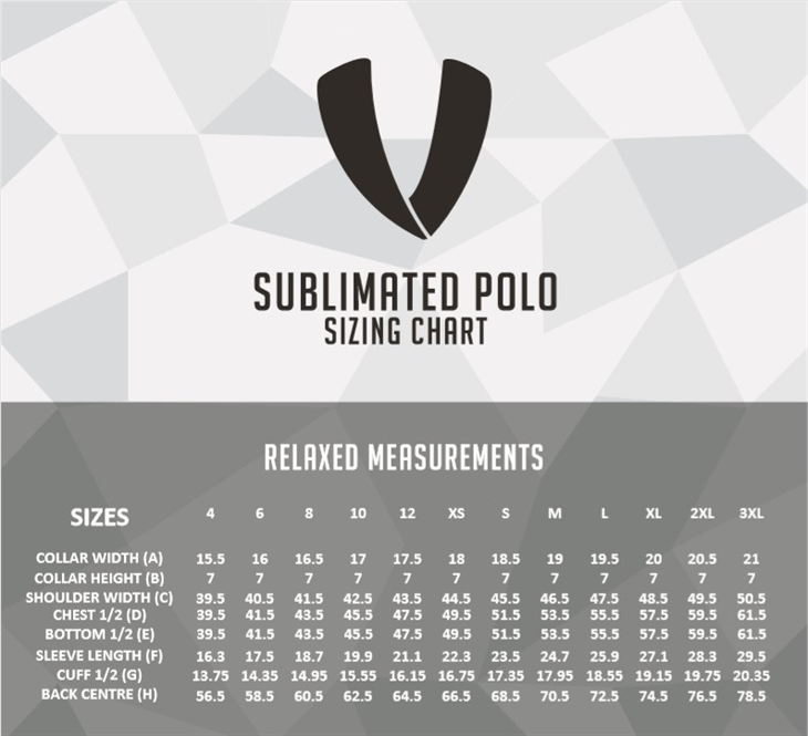 Mens  Polo  Size  Chart
